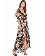 Lola Wrap Flounce Maxi Dress