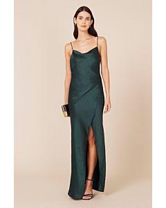 Bowery Slip Dress - Forest Green