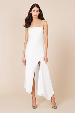 Acacia Square Neck Dress - Ivory