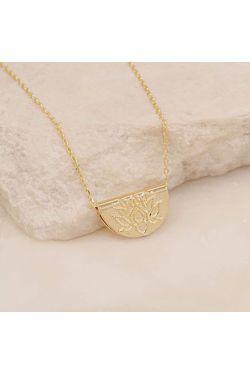 Gold Short Lotus Necklace