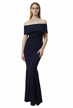 Akane Dress - Navy