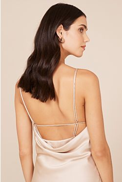 Antonelli Backless Dress - Champagne