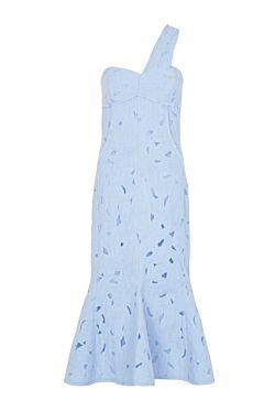 Benito Midi Dress - Deluge Blue