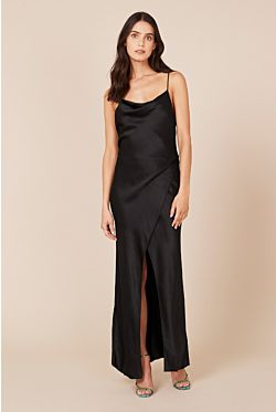 Bowery Slip Dress - Black