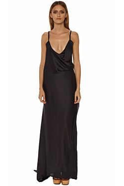 Double Layer Drape Dress