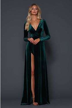 Fontaine Gown - Emerald
