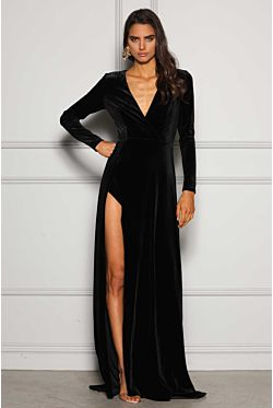 Fontaine Gown -  Black