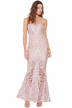 Centre Stage Gown - Nude