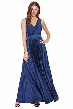 Regal Beauty Drape Gown - Navy