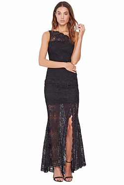 Winter Rose Bold Gown - Black