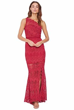 Winter Rose Bold Gown - Cherry Red