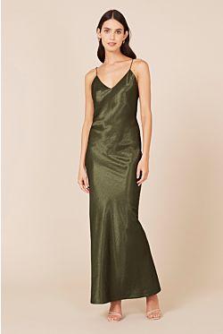 Camila Dress - Olive Green