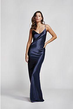 Camila Dress - Navy