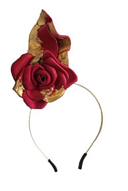 Single Rose Fascinator