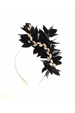Black Leaves Fascinator