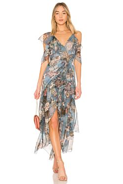 Arielle Floral Wrap Maxi Dress