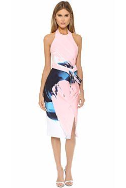 Floral Apron Front Dress