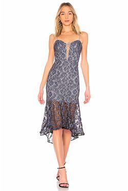 Whisper Lace Midi Dress
