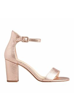 Silence Heel - Rose Gold Leather