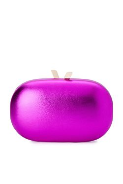 Halee Metallic Clutch - Pink