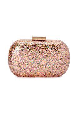 Sparkle Glitter Acrylic Clutch