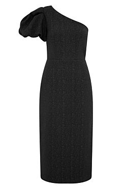 Natalia One Sleeve Midi - Black