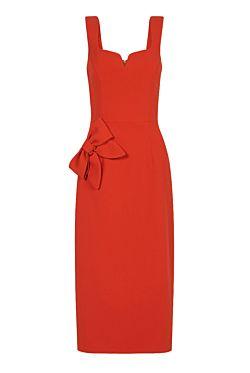 Galerie Bow Midi Dress