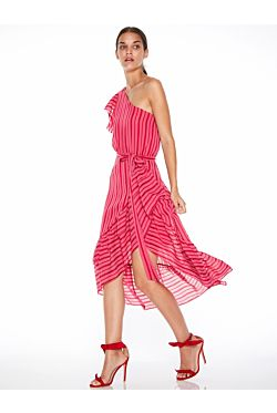 Candy Flounce Midi Dress