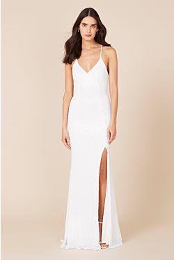 India Gown - White