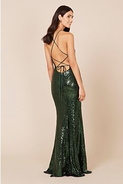 Sadie Sequin Gown - Emerald