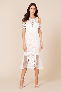 Enchanted Garden Midi Dress - Ivory