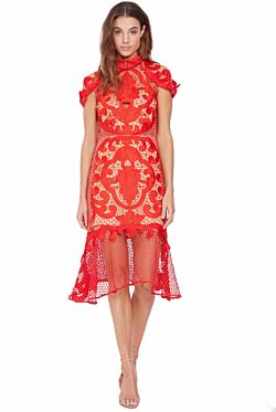 Rose Ceremony Midi Dress