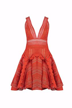Halleys Comet Dress - Mandarin